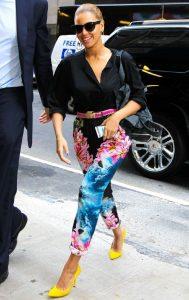 Beyonce Flower Pants celebrity street fashion