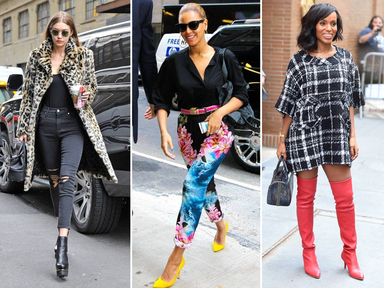 I want to share my favorite celebrity street fashion shots today to help you get ideas on how to bring out your casual style.