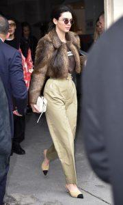 Kendall Jenner Khaki Street Style