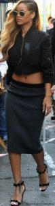 Rihanna All Black Street Style