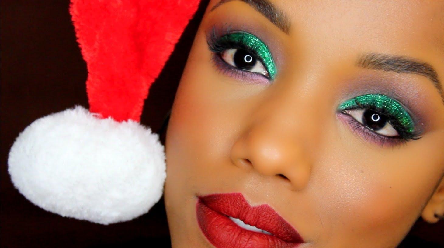 makeup tutorial, Christmas makeup ideas, New Year party, makeup ideas easy holiday makeup looks