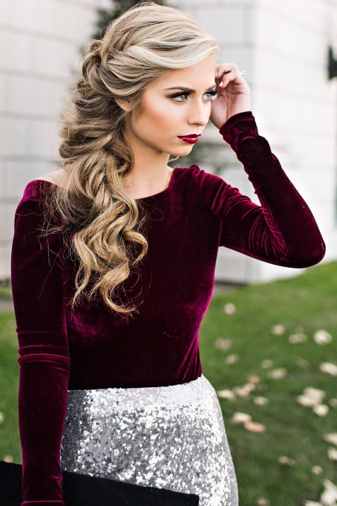 Holiday Hairstyles For Long Hair   30 Gorgeous Cute and ...