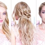 beach holiday hairstyles, easy holiday updos for long hair, medium length hair