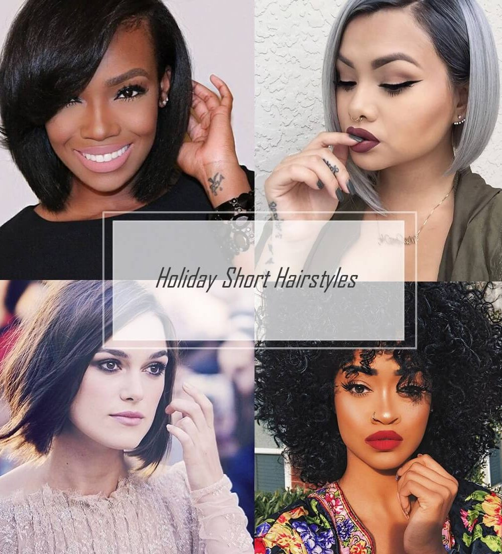 25 Easy Holiday Hairstyles For Short Hair Cute Hair