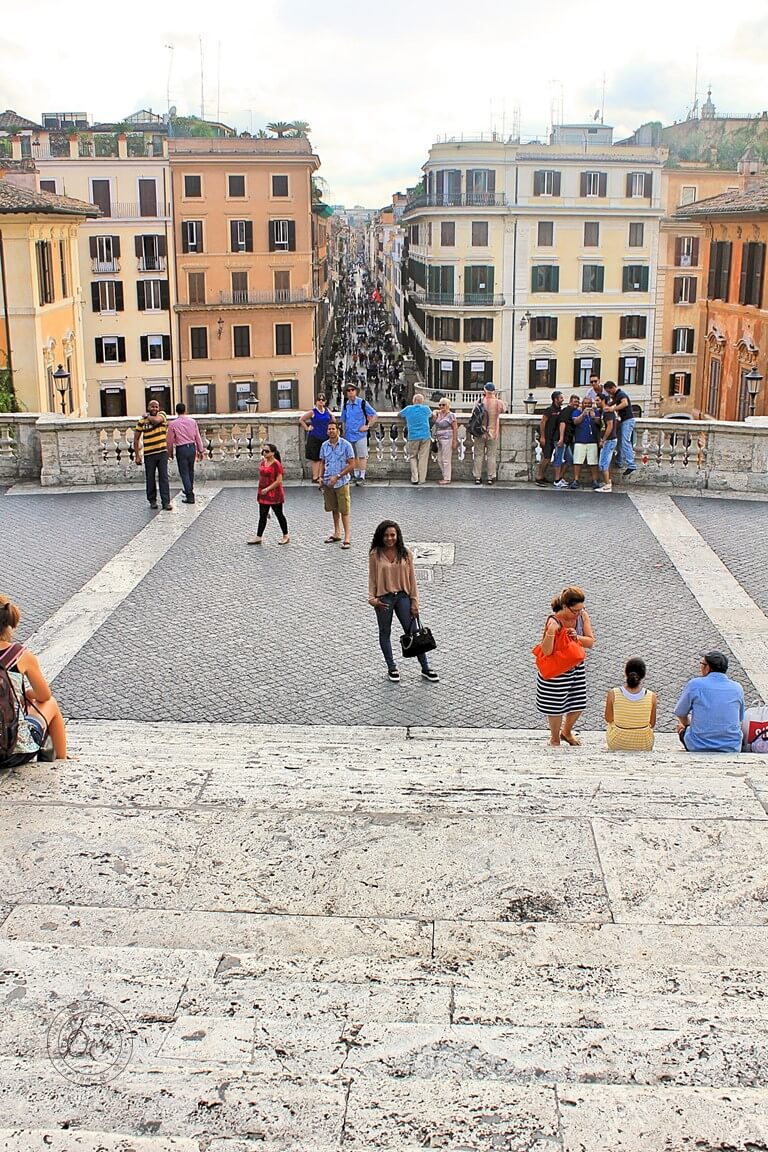 Beautiful Art Work At The Spanish Step At The Top Of Spanish Steps Rome