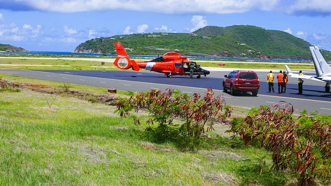 Helicopta Pad British Virgin Islands BVI Tour