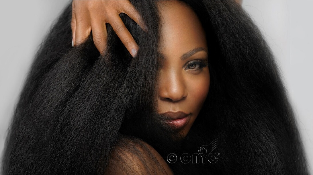 Thelma Okoro Modeling For ONYC Fro Out Kinky Straight Hair Natural State