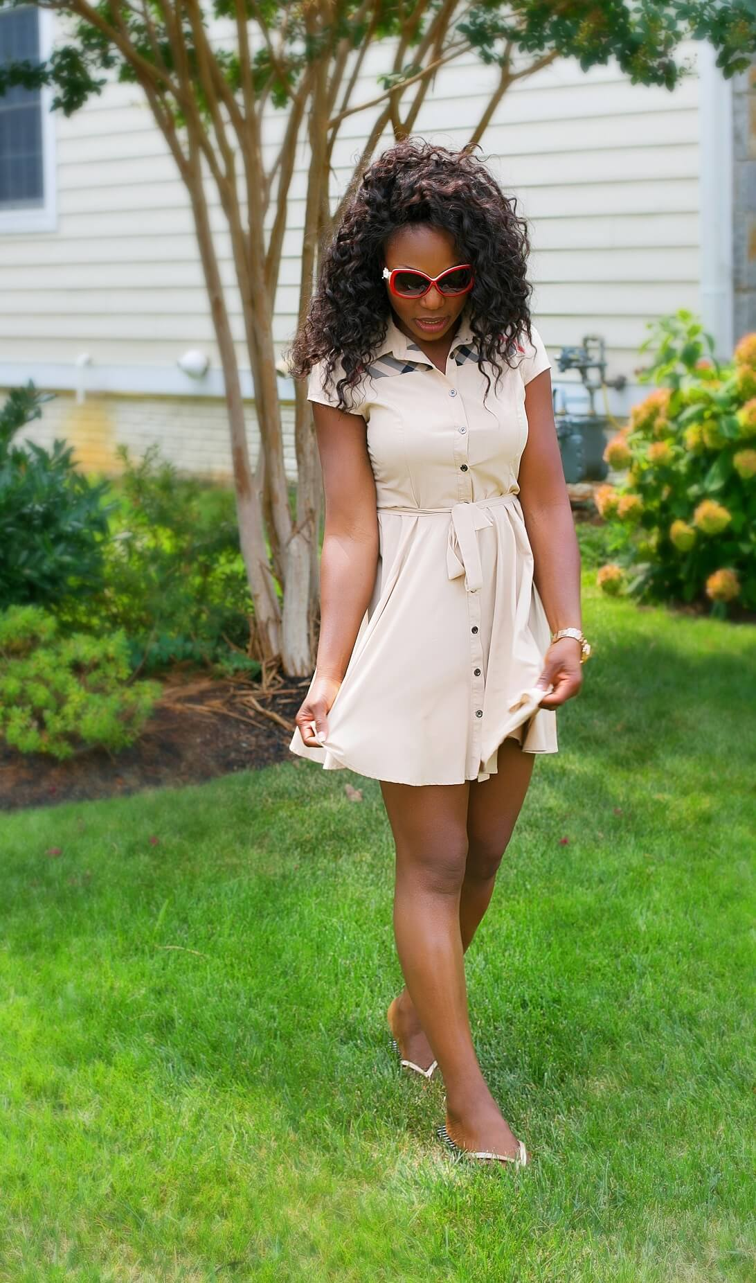 What I'm Wearing Flirty Burberry Short Dress