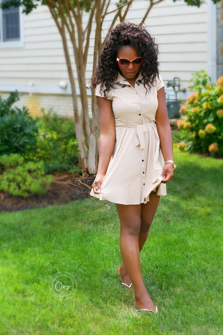 What I'm Wearing Flirty Burberry Short Dress Featured