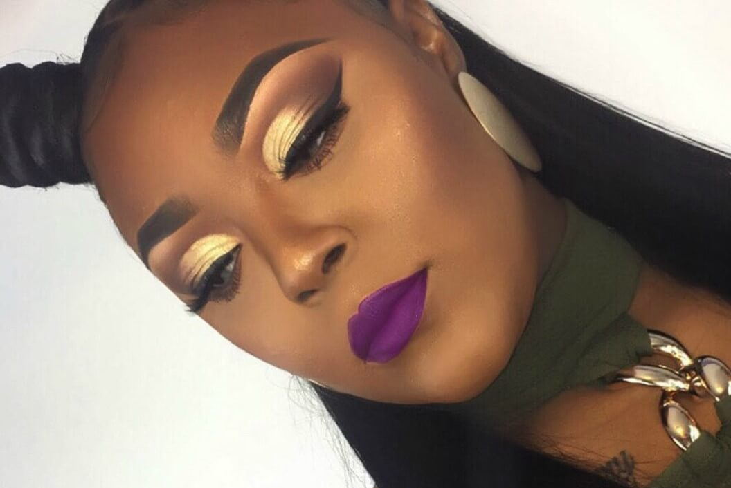 Purple And Gold Make Up @maxdefault-easy holiday makeup looks
