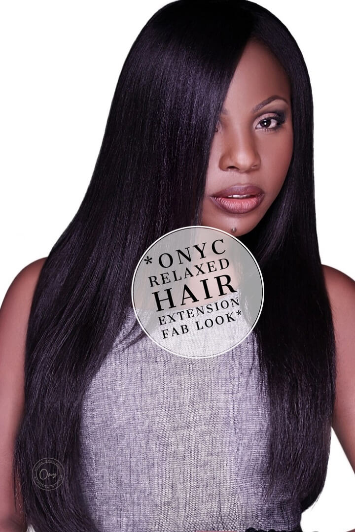 Relaxed Hair Extensions Fab Look With ONYC Hair Relaxed Perm Weave