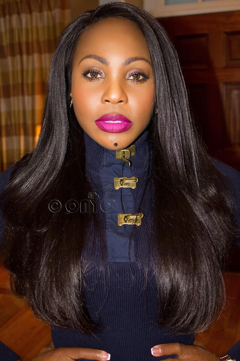 Thelma Okoro Wearing ONYC Hair Extensions ONYC Hair