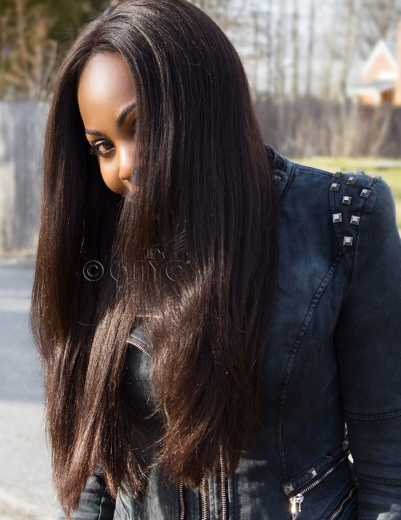 Thelma Okoro Wearing ONYC Hair And Relaxed Hair With Closures
