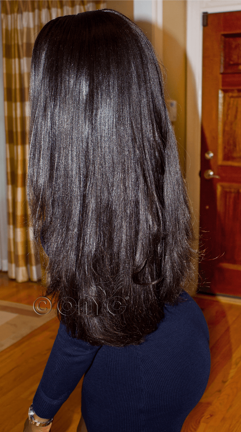 Thelma Okoro Wearng ONYC Hair And Relaxed Hair With Hair Closure